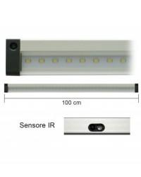 Barra Led Con Sensore Ir 12V 10W 4000K 100Cm Mod. Ap100Irn