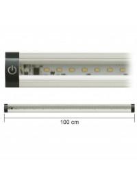 Barra Led Con Interruttore 12V 10W 4000K 100Cm Inclinabile Mod. Ap100Pn-Inc