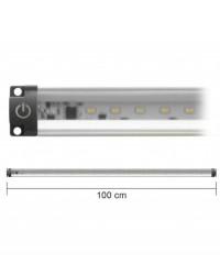 Barra Led Con Interruttore 12V 10W 3000K 100Cm Inclinabile Mod. Ap100Pc-Inc
