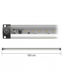 Barra Led Con Interruttore 12V 5W 3000K 50Cm Inclinabile Mod. Ap50Pc-Inc
