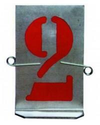 Stampi Numeri Lamiera Zincata - Mm. 40