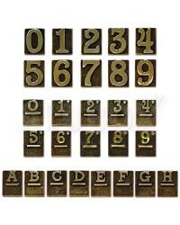 Numeri Civici Ottone Lucido - Uno