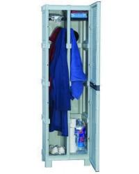 Armadi Resina Grigio 1 Porta - 50X39X172H