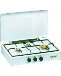 Fornello Gas Gpl - Acciaio Porcellanato 3 Fuochi - Mod.5320Gp