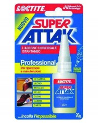 ADESIVI ATTAK SUPER - PROFESSIONAL 20GR