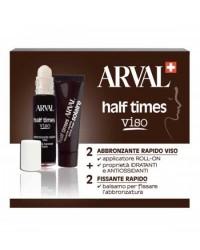 Arval Solaire Half Times Viso - Abbronzante Rapido Viso 2 x 10 ml + Fissante Rapido 2 x 10 ml